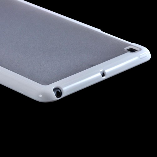 White/ Clear Hard Case w/ Crystal Silicone Border for Apple iPad Mini