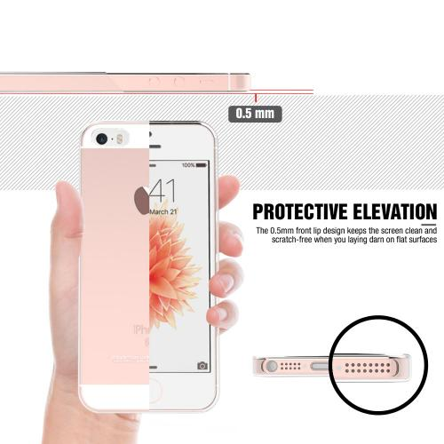 Apple iPhone SE / 5 / 5S Case, REDshield Crystal Back Bumper Case [Drop Protection][Clear] Flexible Border Case for Apple iPhone SE / 5 / 5S