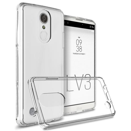 LG Aristo Case, Crystal Back Bumper Case [Drop Protection] Flexible Border Case [Clear]