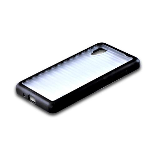 Hard Back w/ Gummy Silicone Border Black/ Clear for LG Optimus G Sprint
