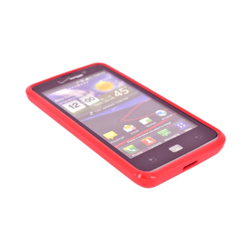 LG Spectrum Hard Back w/ Crystal Silicone Border - Red/ Clear