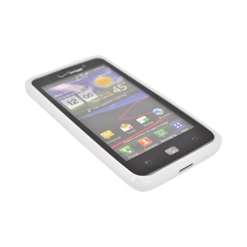 LG Spectrum Hard Back w/ Crystal Silicone Border - White/ Clear