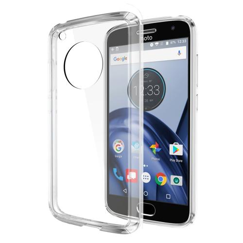 Motorola Moto G5 Case, REDshield [Clear] [Drop Protection] Crystal Back TPU Bumper w/ Flexible Border