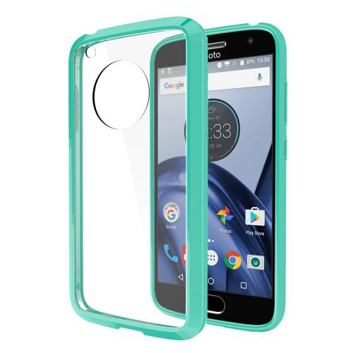 Motorola Moto G5 Case, REDshield [Mint] [Drop Protection] Crystal Back TPU Bumper w/ Flexible Border