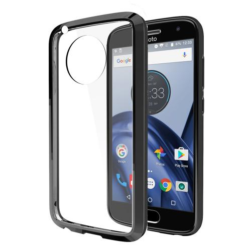 Motorola Moto G5 Plus Case, REDshield [Black] [Drop Protection] Crystal Back TPU Bumper w/ Flexible Border