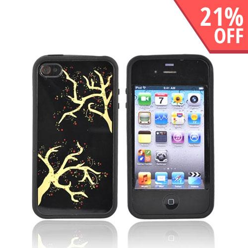 Original Angelina Briggs Apple iPhone 4 Hard Back w/ Gummy Silicone Border Case - Within Reach