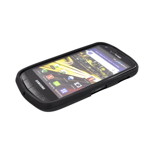Samsung Droid Charge Hard Back Cover w/ Gummy Border Case - Raspberry/ Black