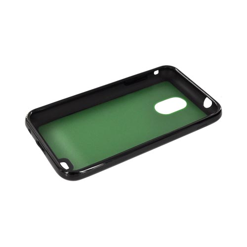 Samsung Epic 4G Touch Hard Back w/ Gummy Silicone Border Case - Green/ Black