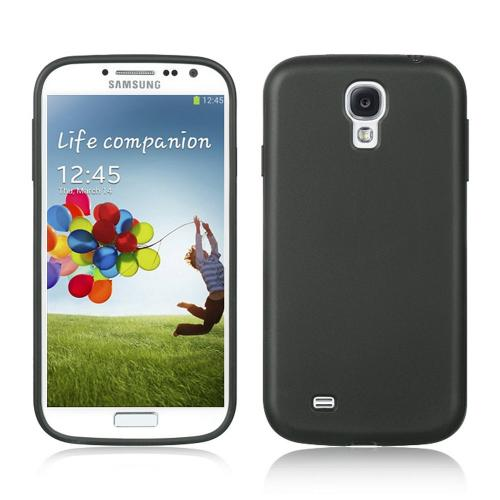 Black Matte Crystal Silicone Case for Samsung Galaxy S4