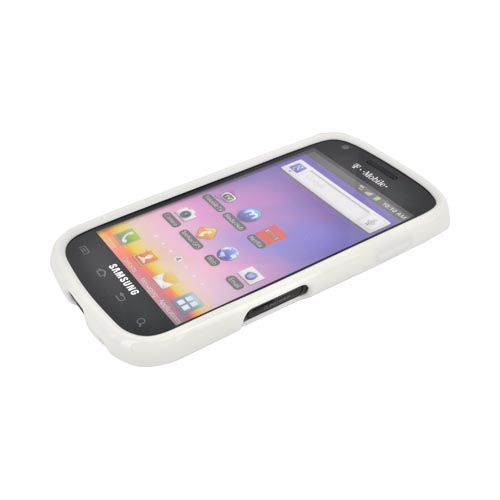 Samsung Galaxy S Blaze 4G Hard Back Case w/ Gummy Crystal Silicone Lining - White/ Frost White
