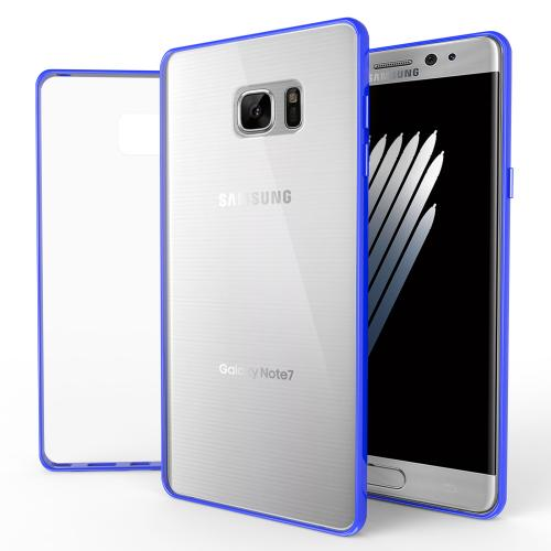 Samsung Galaxy Note 7  Case, REDshield [Blue]  Crystal Clear Back Bumper Case [Drop Protection] Flexible Border Case