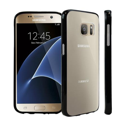 Samsung Galaxy S7 Case, [REDshield] Crystal Back Bumper Case [Drop Protection][Clear Black] Flexible Border Case