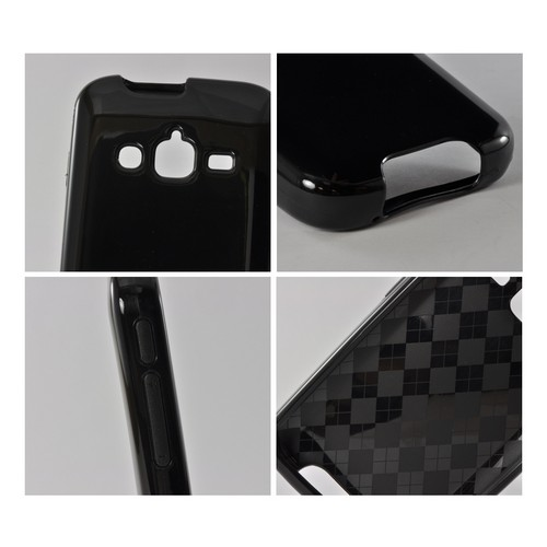 Black (Argyle Interior)Crystal Silicone Case for Samsung Galaxy Rugby Pro