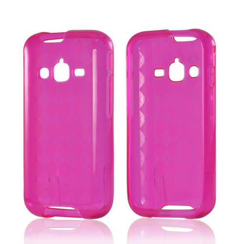 Argyle Hot Pink Crystal Silicone Case for Samsung Galaxy Rugby Pro