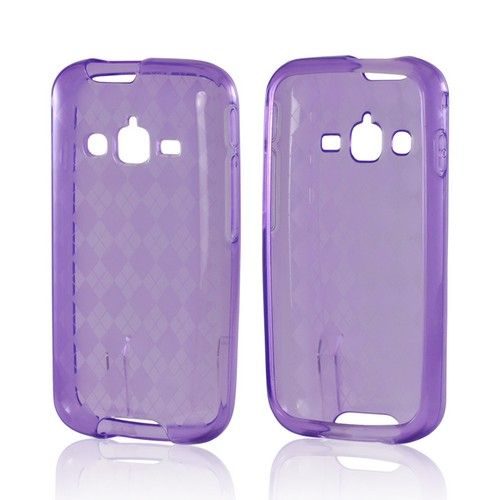 Argyle Purple Crystal Silicone Case for Samsung Galaxy Rugby Pro