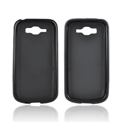 Samsung Focus 2 Hard Back Case w/ Gummy Crystal Silicone Lining - Black
