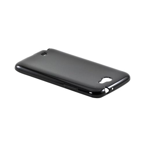 Samsung Galaxy Note 2 Crystal Silicone Case - Black (Argyle Interior)