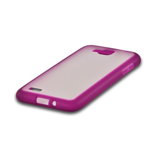 Purple/ Clear Hard Back w/ Crystal Silicone Border for Samsung ATIV S T899