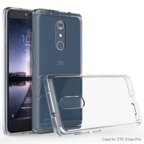 ZTE Z Max Pro Case, Crystal Back Bumper Case [Drop Protection] Flexible Border Case [Clear]