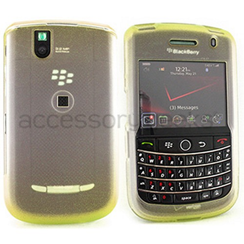 Blackberry Bold 9650 & Tour 9630 Icy Hard Case - Yellow