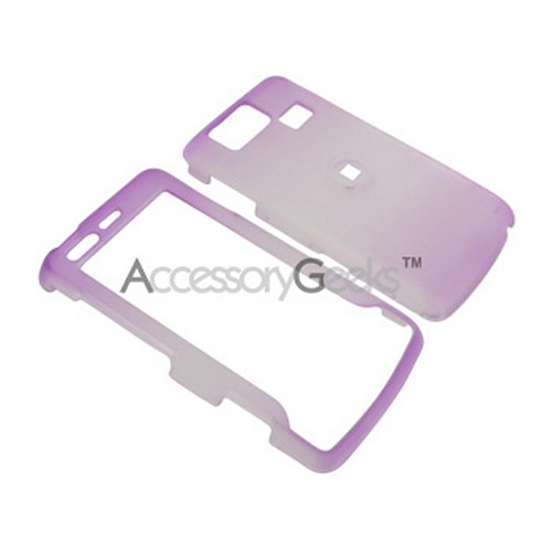 LG Versa Icy Hard Case - Purple/Clear