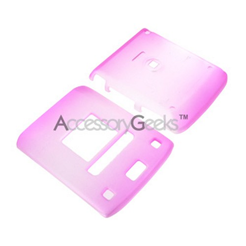 LG Lotus Icy Hard Case - Hot Pink/Clear