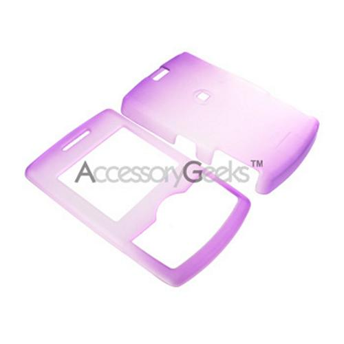 Samsung Propel Icy Hard Case - Purple/Clear