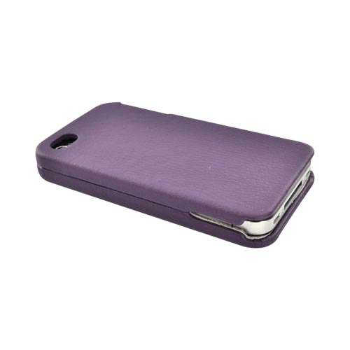 Luxmo Apple Verizon/ AT&T iPhone 4, iPhone 4S Leather Molded Hard Case - Purple