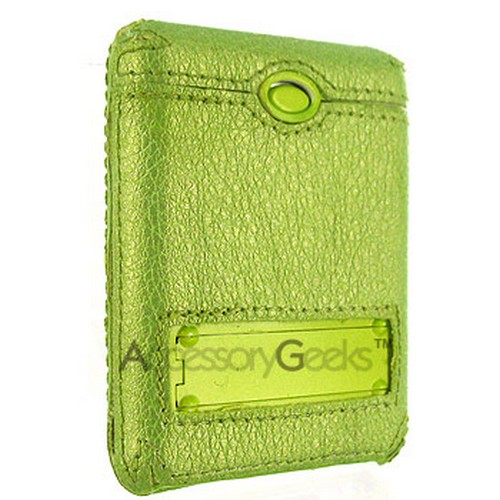 Apple iPod Nano Video Leather Wrapped Hard Case - Green