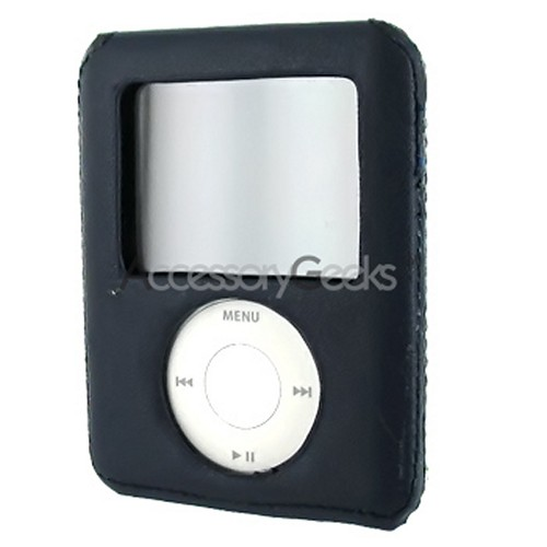 Apple iPod Nano Video Leather Wrapped Hard Case - Navy
