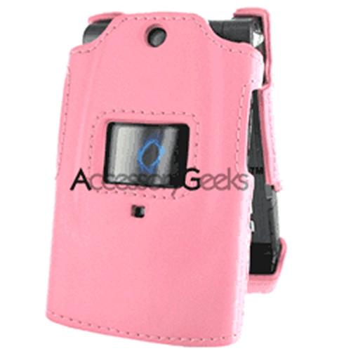Sanyo 6600 Custom Molded Leather Hard Case - Baby Pink