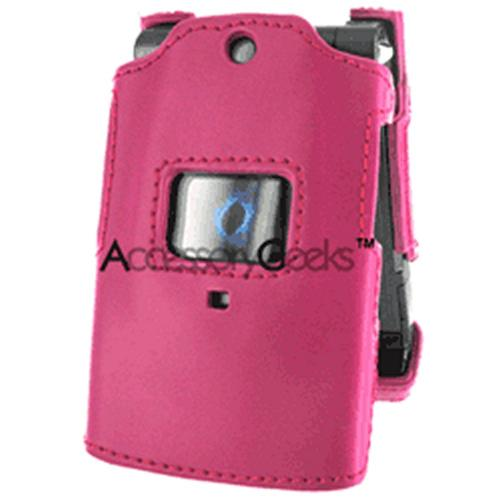 Sanyo 6600 Custom Molded Leather Hard Case - Hot Pink