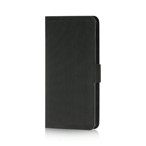 Black Dolce Faux Leather Case Stand for HTC One
