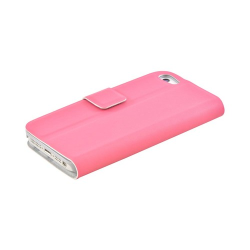 Premium Apple iPhone 5/5S Dolce Faux Leather Case Stand - Pink
