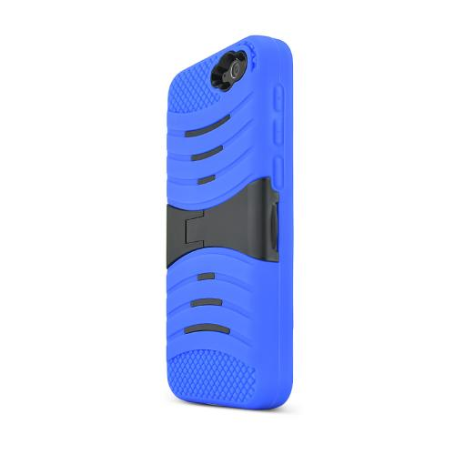 Blue/ Black Amazon Fire Silicone & Hard Case Armor Hybrid w/ Kickstand - Great Protection!