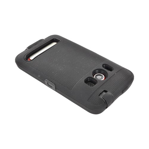 HTC Evo 4G Silicone Over Hard Case - Black