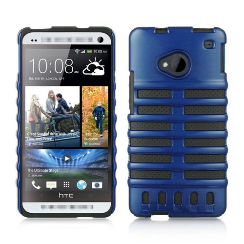 Blue Skeleton Hard Cover on Black Silicone for HTC One