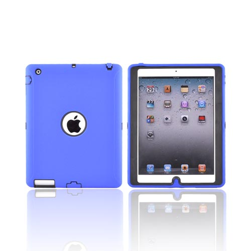 Apple iPad 2 Silicone Over Hard Case - Blue/ Black