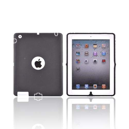 Apple iPad 2 Silicone Over Hard Case - White/ Black