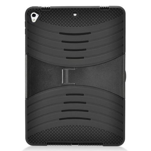 Made for Apple iPad 9.7 inch (2017) Hybrid Case, Supreme Protection Silicone Skin Case on Hard Case Dual Layer Hybrid Case w/ Kickstand [Black] by Redshield