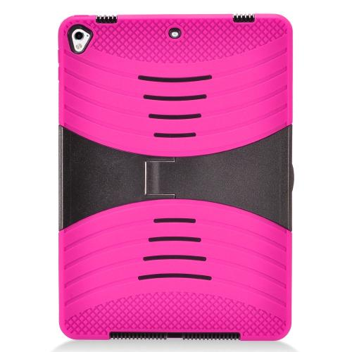 Made for Apple iPad 9.7 inch (2017) Hybrid Case, Supreme Protection Silicone Skin Case on Hard Case Dual Layer Hybrid Case w/ Kickstand [Hot Pink] by Redshield