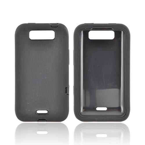 LG Viper LTE 4G/ LG Connect 4G Silicone Over Hard Case - Black
