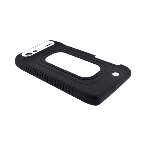 Motorola Droid RAZR Silicone Over Hard Case - Black/ White