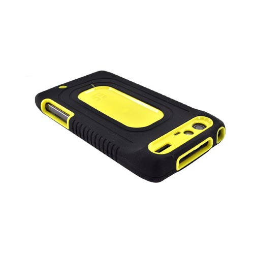 Motorola Droid RAZR Silicone Over Hard Case - Black/ Yellow