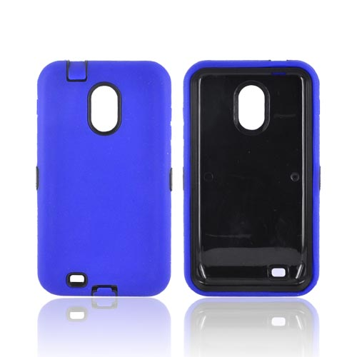 Samsung Epic 4G Touch Silicone Over Hard Case - Blue/ Black