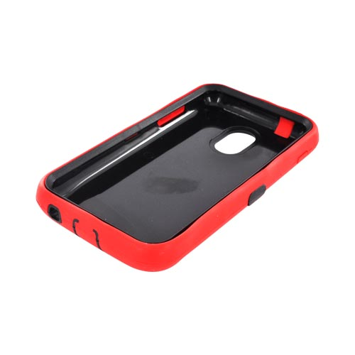 Samsung Epic 4G Touch Silicone Over Hard Case - Red/ Black