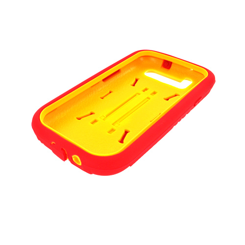 Buy Samsung Galaxy S3 Silicone Over Hard Case w/ Stand - Red/ Yellow ...