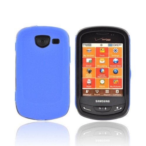 Samsung Brightside Silicone Over Hard Case - Blue/ Black
