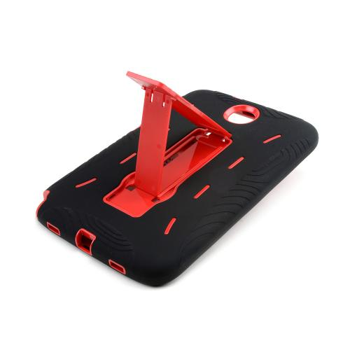 Black Silicone on Red Hard Case w/ Kickstand for Samsung Galaxy Note 8.0