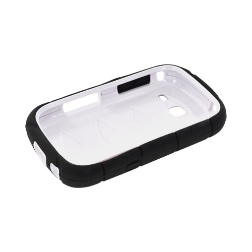 Samsung Freeform 3 Silicone Over Hard Case - Black/ White